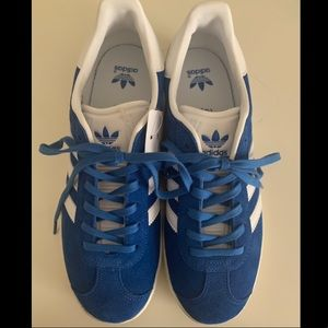 Blue Adidas sneakers